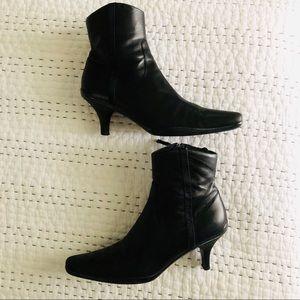Prada Sz38.5/8.5 Ankle Boots Stacked Heel